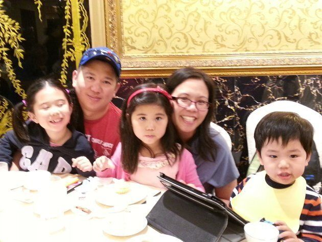 The author and his family at dim sum in Scarborough,