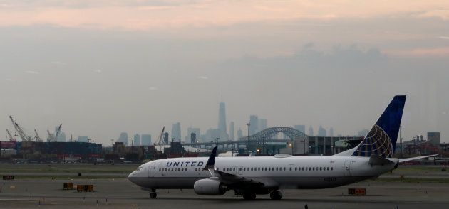 A United Airlines plane taxis to the runway at Newark Liberty Airport, Newark, N.J. The airline will...
