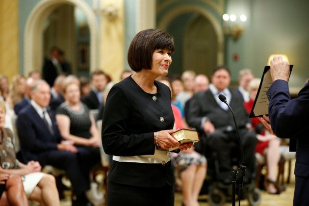 Ginette Petitpas Taylor is sworn-in as minister of health at Rideau Hall on Aug. 28, 2017.