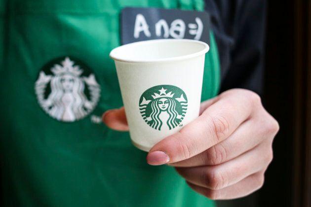 Starbucks opens a new store in Krakow, Poland on 8 April, 2017. (Photo by Beata Zawrzel/NurPhoto via Getty Images)