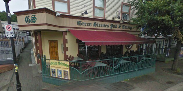 The altercation began outside Green Sleeves, an Irish Pub in St.
