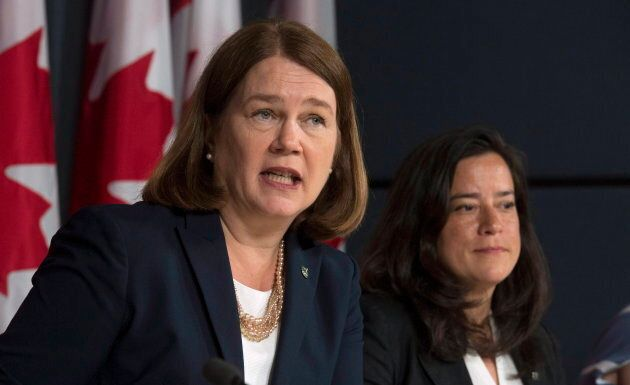 Minister of Health Jane Philpott responds to a question as Minister of Justice and Attorney General of...