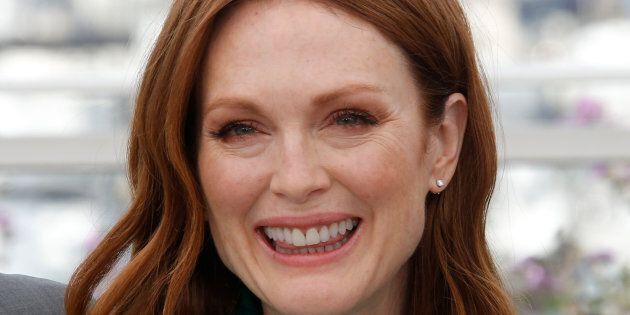 Julianne Moore poses at photocall
