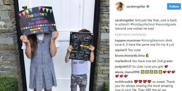 Celebrity Parents Share Bittersweet Back-To-School Photos Of Their