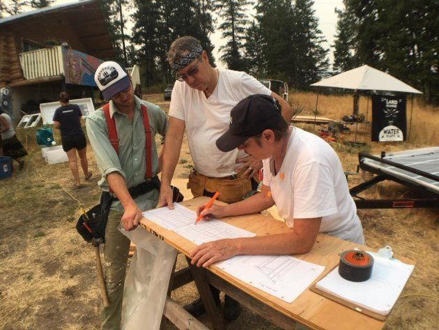 Secwepemc Nation and its allies began construction on Tuesday near Chase, B.C.