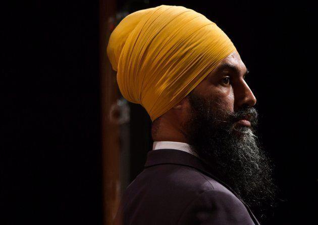 Jagmeet Singh listens during the final federal NDP leadership debate in Vancouver, B.C., on Sept. 10, 2017.