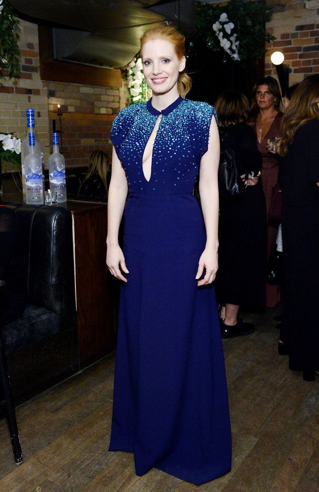 Jessica Chastain at the MOLLY'S GAME premiere after-party hosted by Grey Goose. (Photo by Stefanie Keenan/Getty...