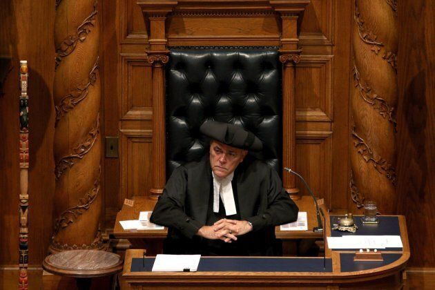 Speaker of the legislature Darryl Plecas.