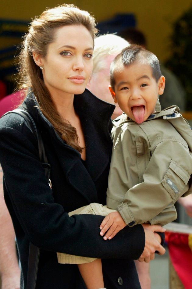 Angelina Jolie and eldest son Maddox in 2005. (Photo by Matt Cardy/Getty Images)