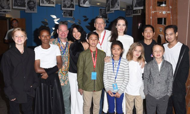 Angeline Jolie and her family at the 'First They Killed My Father' premiere at the Telluride Film Festival...