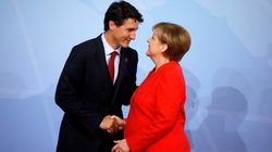 Trudeau Calls Merkel 'Extraordinary' Weeks Before German