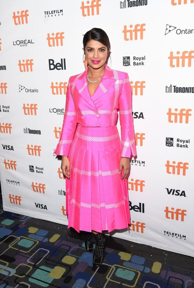Priyanka Chopra attends the 'Pahuna: The Little Visitors' premiere during the 2017 Toronto International...