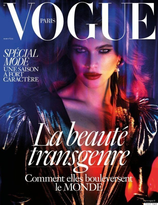 Transgender model Valentina Sampaio on the cover of French Vogue.