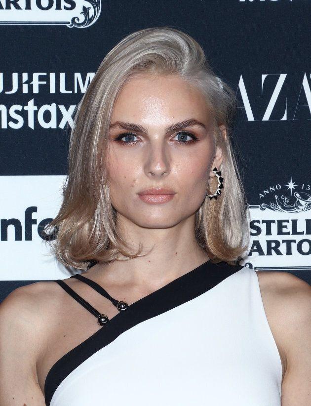 Model Andreja Pejic attends the 2017 Harper's Bazaar Icons at The Plaza Hotel on September 8, 2017 in...