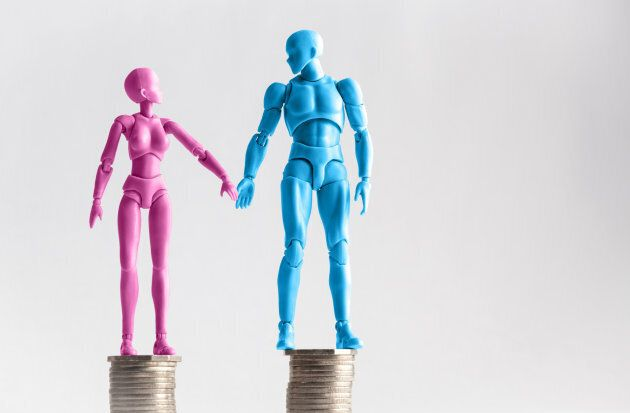 Women earned the larger share of a couple's combined income in just 17.3 per cent of