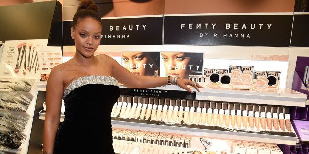 Rihanna launches Fenty Beauty at Sephora Times Square on September 7, 2017 in New York, New York. (Kevin...