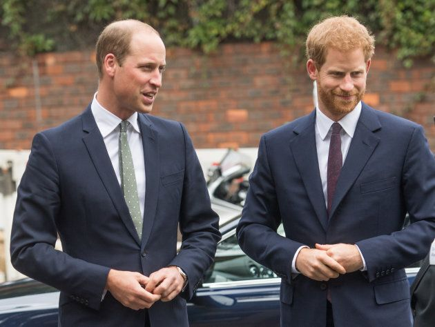 Prince William and Prince Harry. (Photo by Samir