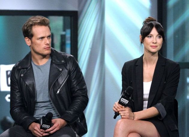 Sam Heughan and Caitriona Balfe appear to promote 'Outlander' during the BUILD Series at Build Studio...
