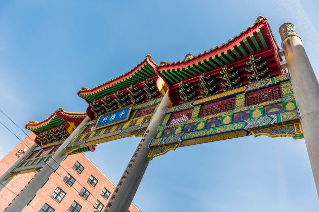 Chinatown gate in downtown in downtown Vancouver.