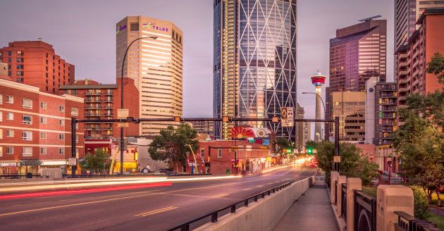 Centre Street leading into Calgary's downtown. The city has seen a steep drop in its rankings among global...
