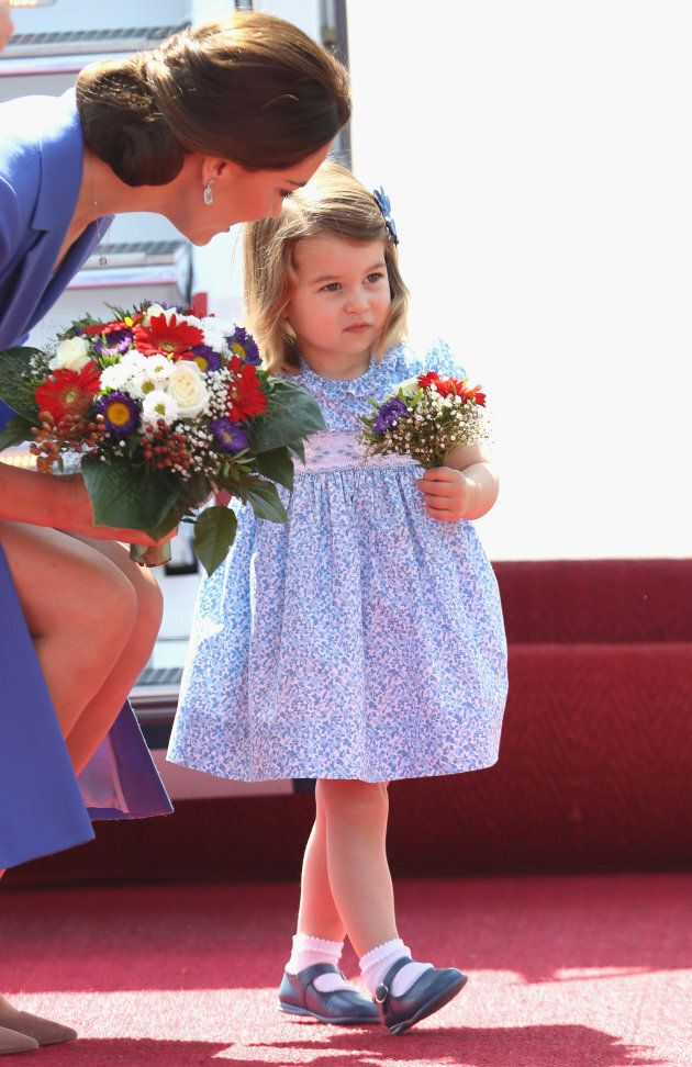 Duchess of Cambridge and Princess Charlotte at Berlin Tegel Airport on July 19, 2017 in Berlin, Germany. (Photo by Chris Jackson/Getty Images)