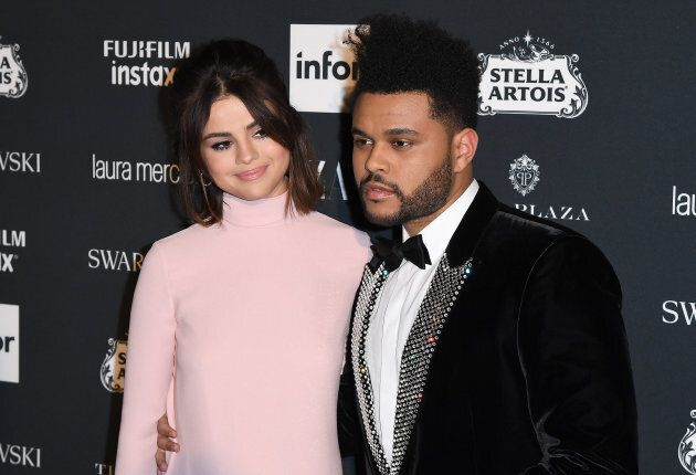 The Weeknd and Selena Gomez attend Harper's BAZAAR Celebration of 'ICONS By Carine Roitfeld' on Sept....