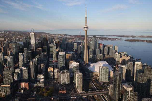 An aerial view of Toronto,
