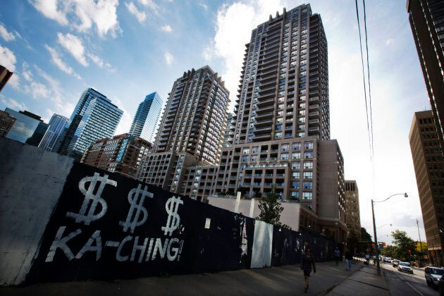 Condo towers in Toronto, Sept. 21, 2012. The city has seen a pronounced decline in foreign homebuying...