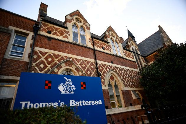 Thomas's Battersea, a private school attended by Prince George, is seen in southwest London, September...