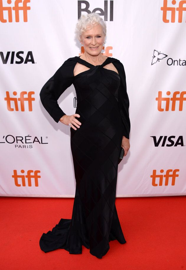 Glenn Close at 'The Wife' premiere during the 2017 Toronto International Film