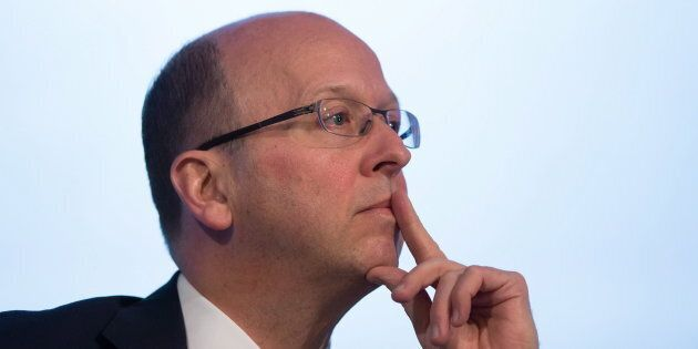 CIBC president and CEO Victor Dodig listens during the company's annual and special meeting of shareholders in Vancouver on April 5, 2016.