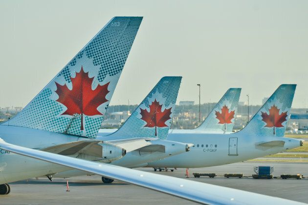 A view of Air Canada planes at Toronto's Pearson International Airport, Wed. July 20, 2016. Air Canada...