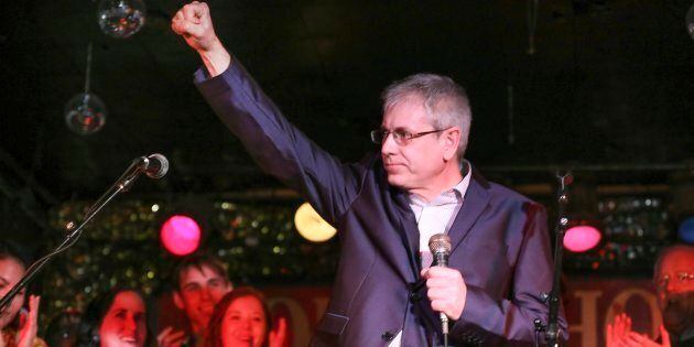 Charlie Angus officially announced his NDP leadership bid at the Horseshoe Tavern in Toronto on Feb....