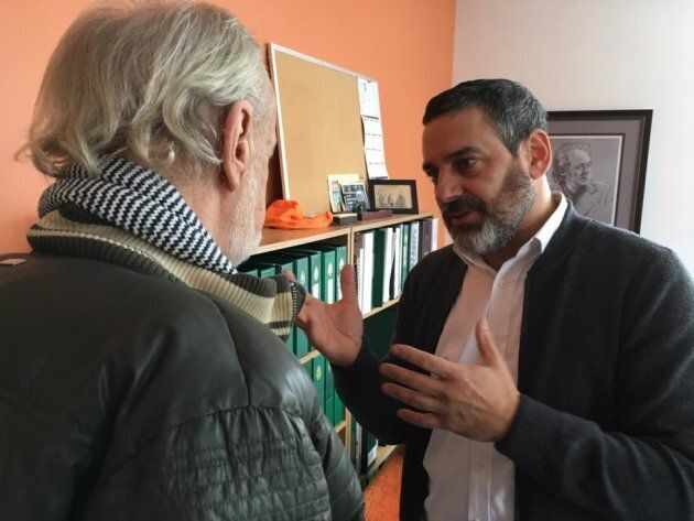 Pierre Nantel (right) pictured in a Jan. 28, 2017