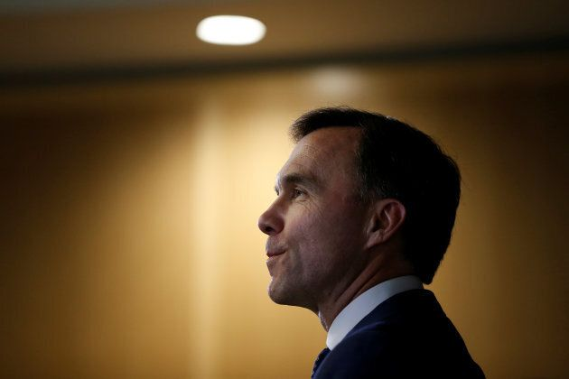Finance Minister Bill Morneau takes part in a news conference following a meeting with his provincial...