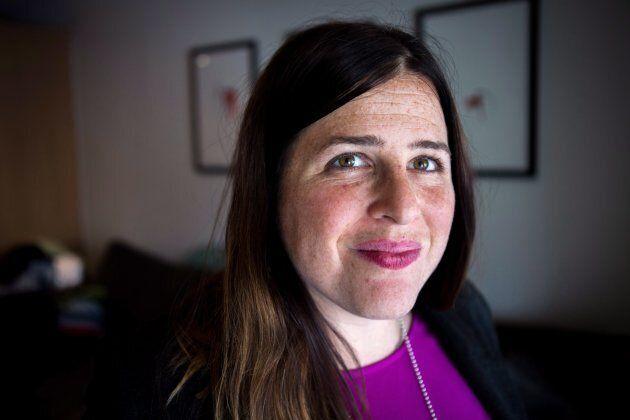 Alana Kayfetz, founder of MomsTO poses at her Toronto home on