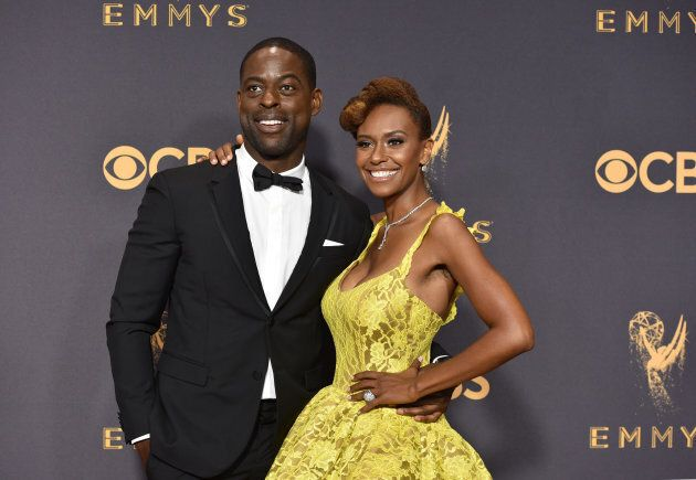Actors Sterling K. Brown (L) and Ryan Michelle Bathe attend the 69th Annual Primetime Emmy Awards at...