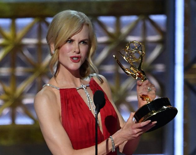 Nicole Kidman accepts the award for Outstanding Lead Actress in a Limited Series or Movie for 'Big Little...