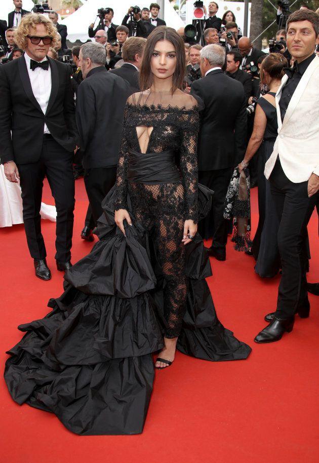Emily Ratajkowski attends the 'Loveless (Nelyubov)' screening during the 70th annual Cannes Film Festival...
