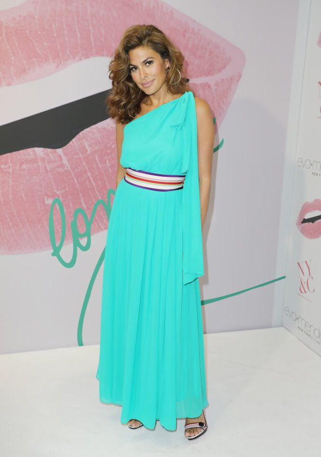 Eva Mendes celebrating the New York & Company store opening at Dadeland Mall in Miami on March 16,