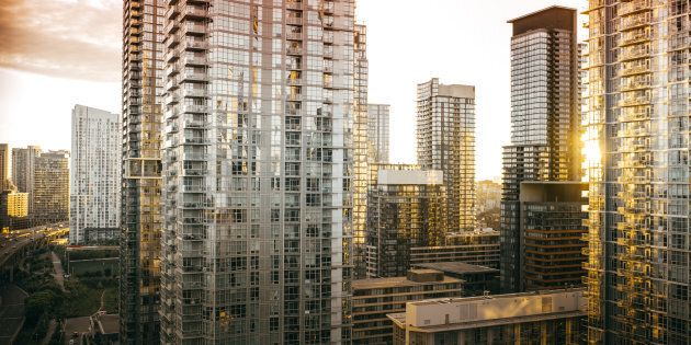 Condos and apartments in downtown Toronto. Ontario is among four provinces