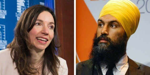 Bloc Québécois Leader Martine Ouellet says that NDP leadership candidate Jagmeet Singh is promoting