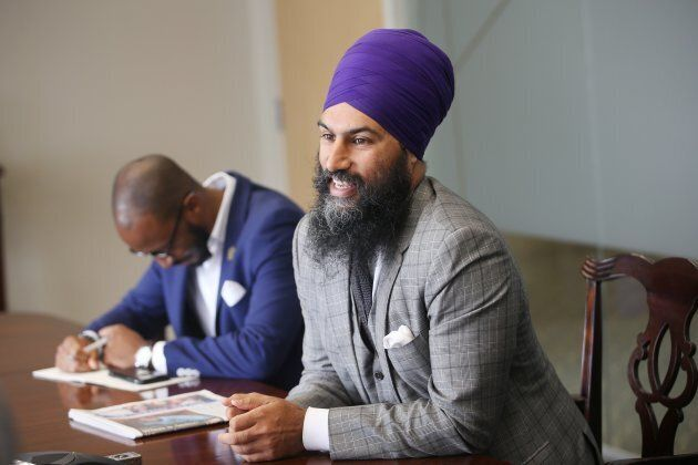 NDP leadership candidate Jagmeet Singh meets with the Toronto Star editorial board on
