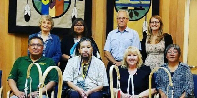 The Sioux Lookout mayor's committee on truth and reconciliation met with Sen. Lynn Beyak in July. The mayor didn't want this photo to give the impression that all is well between the two parties.