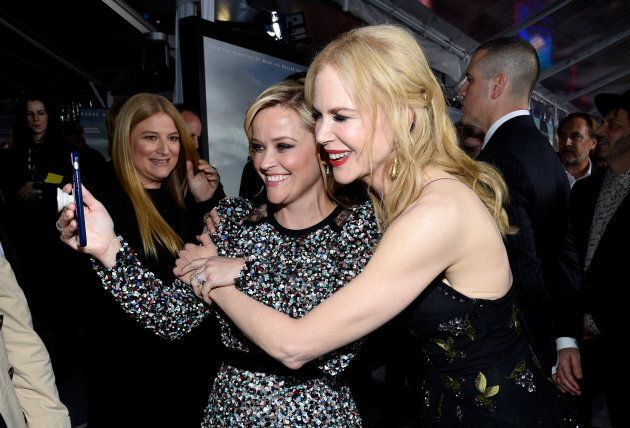 Reese Witherspoon and Nicole Kidman attend the premiere of HBO's 'Big Little Lies' at TCL Chinese Theatre...
