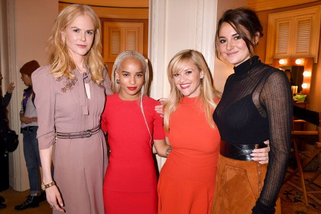 Nicole Kidman, Zoe Kravitz, Reese Witherspoon and Shailene Woodley of 'Big Little Lies' attend the 2017...