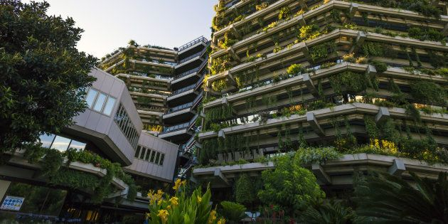 A sustainable building in Barcelona, Catalonia,