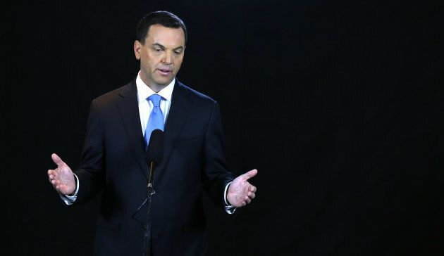 """Tim Hudak, CEO of the Ontario Real Estate Association, is seen here during his time as leader of the Ontario Progressive Conservatives. Hudak is urging governments to """"hit the brakes"""" on further changes to housing and mortgage regulations."""