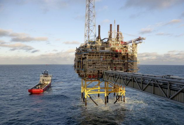 A gas processing platform owned by Statoil, near Stavanger, Norway, Feb. 11, 2016. Norway's sovereign wealth fund has reached a valuation of US$1 trillion.