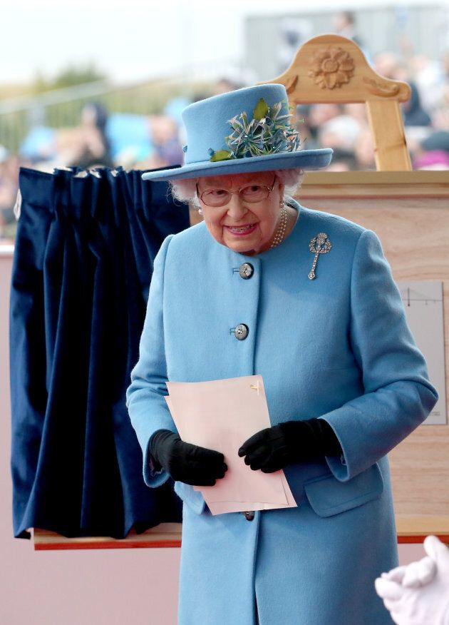 Queen Elizabeth II after giving a speech on September 4, 2017 in South Queensferry, Scotland. (Jane Barlow...